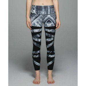 Lululemon Heat Wave White Black Tech Mesh High Times Pant Leggings